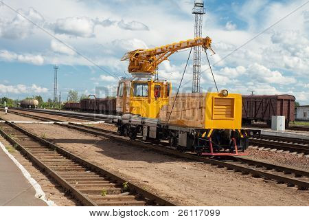 Maintenance Train On The Railway