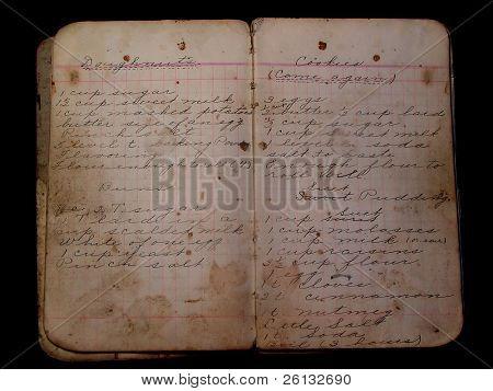Old Handwritten Cookbook