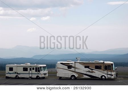 RVs in the mountains