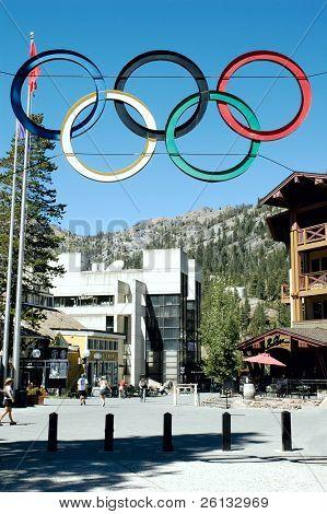 Olympic Village at Squaw Valley Ski Resort, Lake Tahoe, California