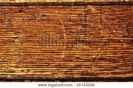 Macro of old oak furniture usable as a background