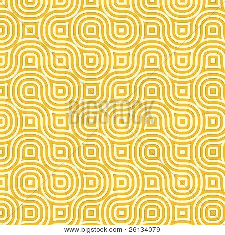Retro abstract of rounded squares in different hues of yellow