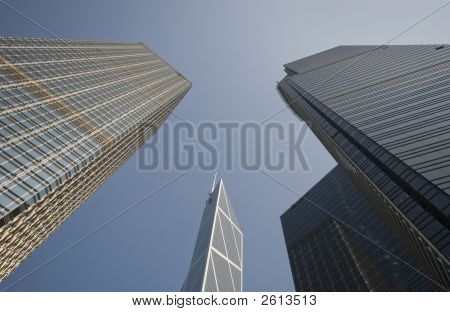 Three Buildings Stand Tall