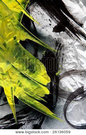 Pinceladas expresivas de textura Grunge