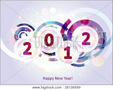 happy new year 2012 abstract background