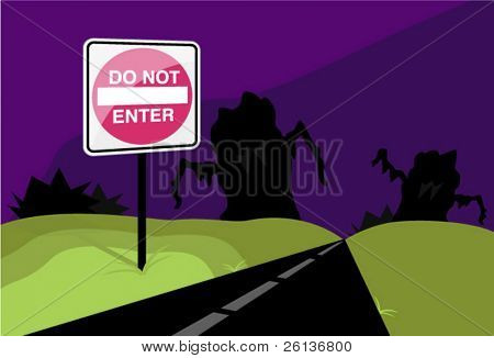 Scary Road - Do Not Enter!