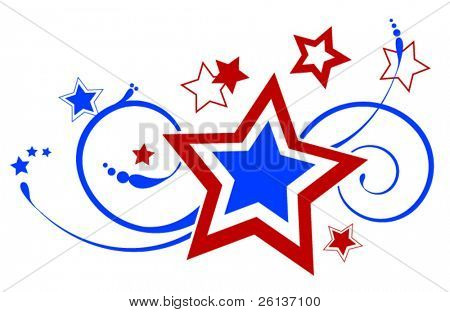 Patriotic Ornate Star Decoration - Fireworks