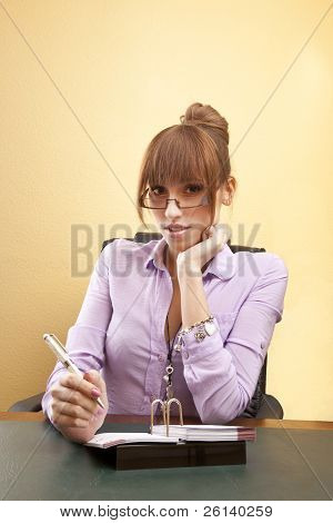Interested office worker