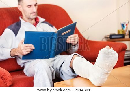 Man With Broken Leg