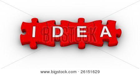 Idee Wort auf Jigsaw puzzle