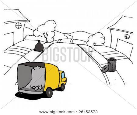 street garbage truck
