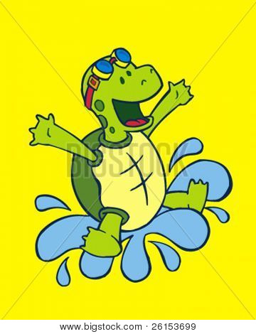 turtle and splash