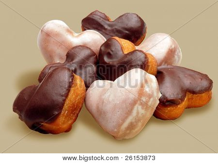 doughnut heart shaped
