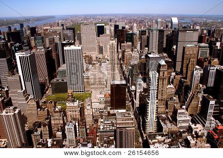 Nice view of skyscrapers in Manhattan