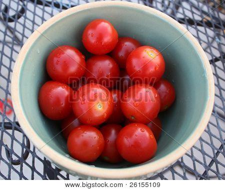 Bowl of cherry tomatos