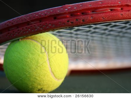 Ball & Racquet Close-up