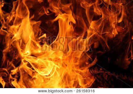 Detalle de llama o fuego