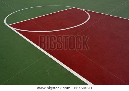 Outdoor basketball court and lines