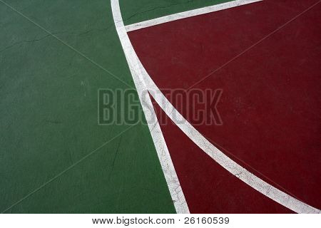 Lines of an Outdoor Basketball Court