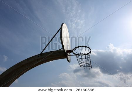 Outdoor Basketball Hoop Backlit
