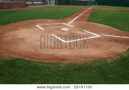 Baseball Field at Home Plate