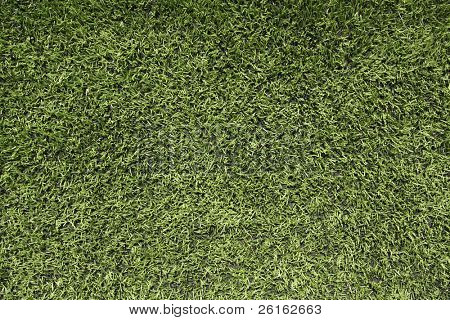 Close up view of artificial turf of a football field for sports background