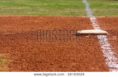 First Base of a Baseball Field