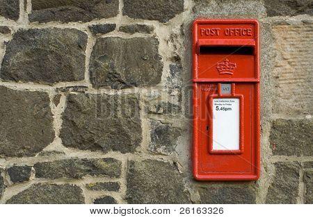 british red postbox, letter box, symbol