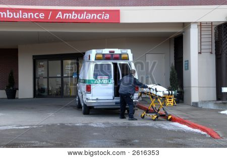Ambulance At Hospital 3