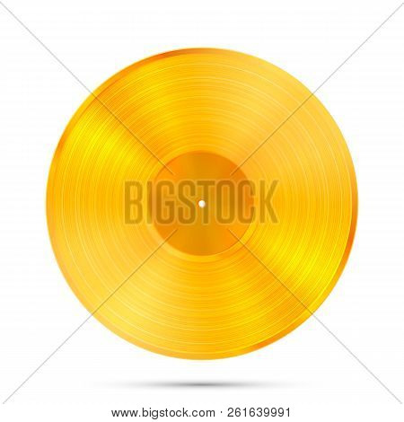 Lp Gold Record Icon Gramophone