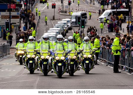 EDINBURGH, SCOTLAND, UK - SEPTEMBER 16: Pope Benedict XVI motorcade travels from Edinburgh Airport to Holyrood Palace, on September 16, 2010 in Edinburgh, Scotland, United Kingdom.