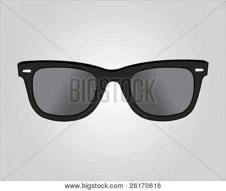 Gafas de sol retro negros