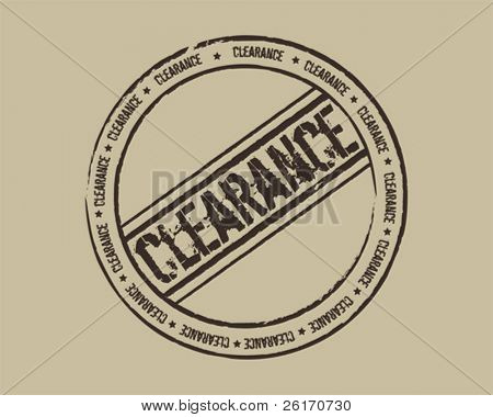 Grunge stamp clearance