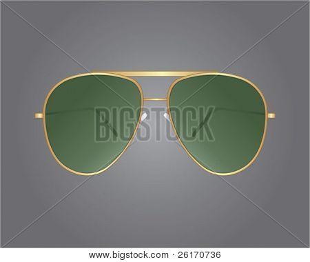 Gafas de sol retro oro