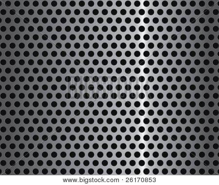 Fondo metal plateado con círculos