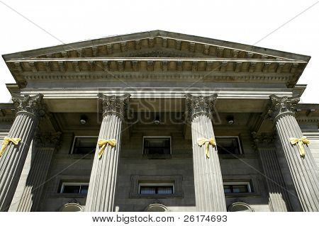 Columns of an old building, architecture