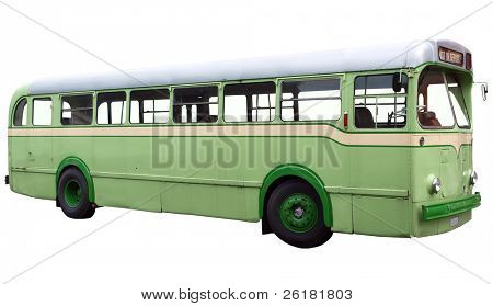 Daimler Freeline Bus isolated with clipping path