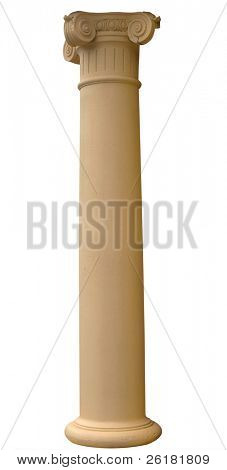 Replica column isolated with clipping path