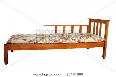Bed settee isolated with clipping path