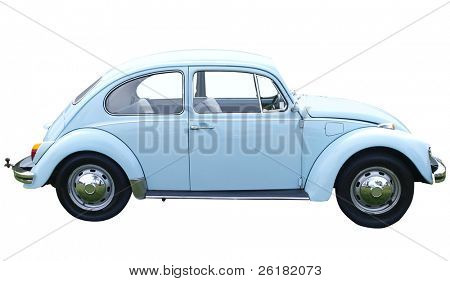 1969 Volkswagen 1500 isolated with clipping path