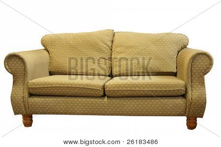 Couch isolated with clipping path.