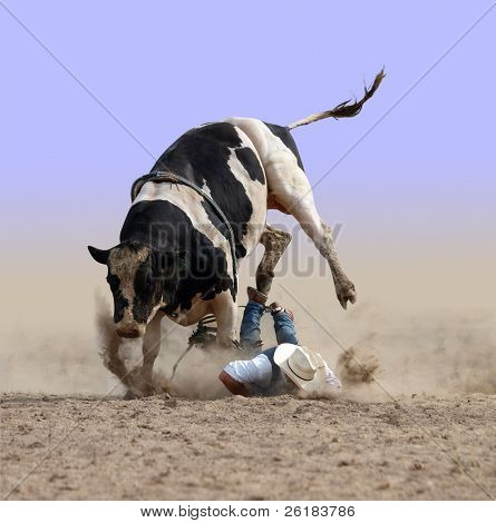 Cowboy Bites the Dust isolated with clipping path
