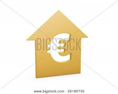 Símbolo del euro House