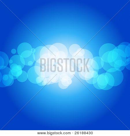 Glittering blue lights background - vector