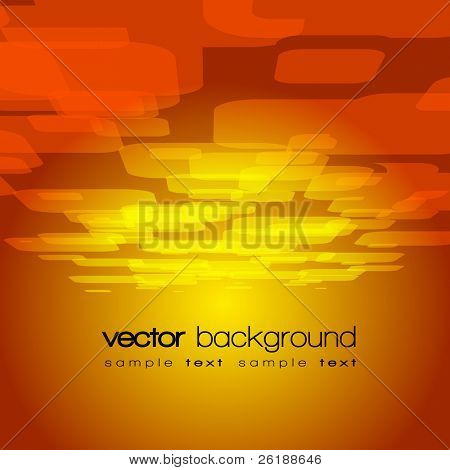 Vector 3D square on the light brown background with text