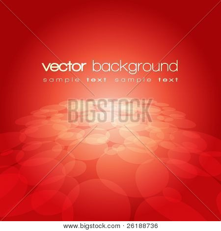 Vector 3D circle on the red background with text