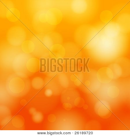 EPS 10 Orange bokeh abstract light background - Vector illustration