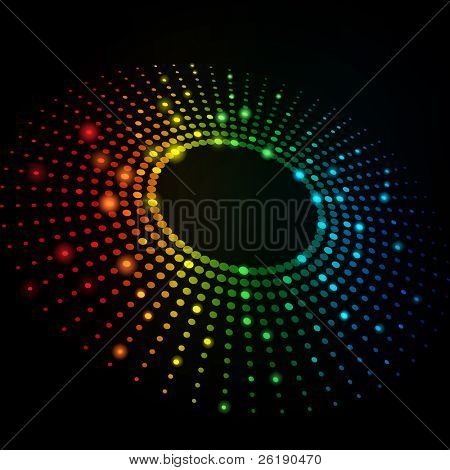 EPS10 3D Colorful Dots Abstract Vector Background