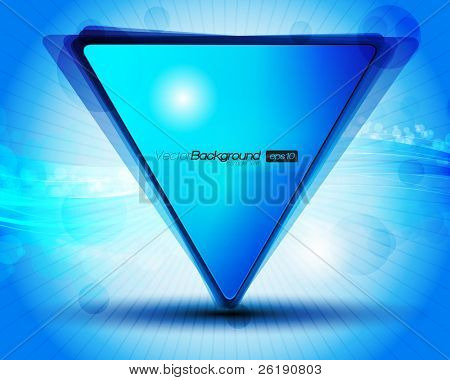 EPS10 Abstract Blue Triangle Background Vector Illustration