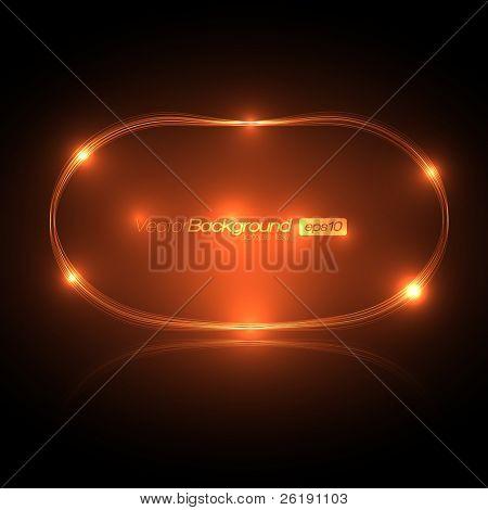EPS10 Speech Bubble Made of Light Vector Design